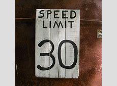 speed limit 30 mph road sign urban loft home decor