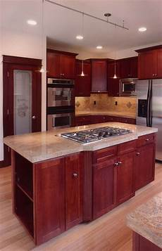 kitchen island with stove and lovely counter plan 071d