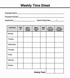 weekly timesheet pdf templates printable free timesheet template templates