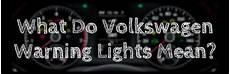 List Of Volkswagen Dashboard Warning Lights