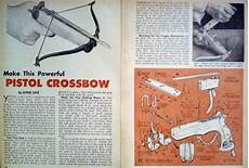 crossbow plans how to build pistol crossbow 1963 diy article plan ebay