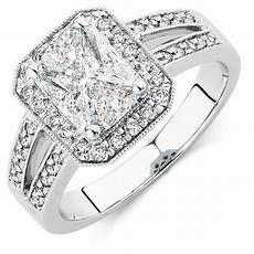engagement ring with 1 15 carat tw of diamonds in 14ct white gold