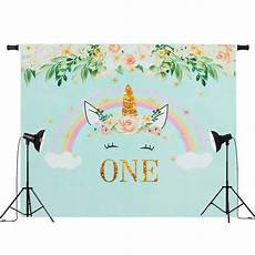 7x5ft Unicorn Flowers Photography Backdrop by 7x5ft 5x3ft One Year For Unicorn Flowers Rainbow
