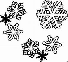 Ausmalbilder Schneeflocken Gratis Verschiedene Schneeflocken 2 Ausmalbild Malvorlage