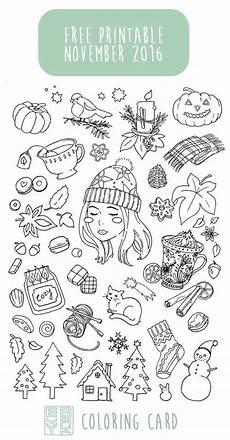 November Malvorlagen Novel Evydraws Illustration Coloring Books And Printables