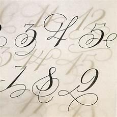 lettering zahlen zahlen lettering mit schn 246 rkel calligraphy