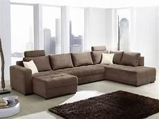 sofa wohnlandschaft wohnlandschaft antigua 357x222cm mikrofaser braun sofa
