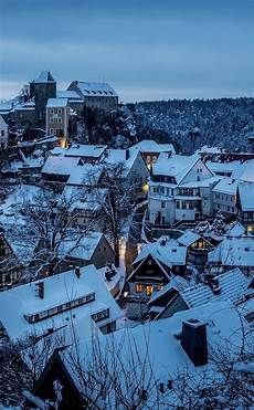 winter germany iphone wallpaper hohnstein city germany in winter snow hd 2k wallpaper