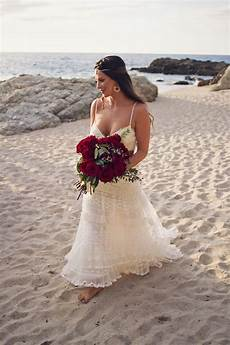 red and blue beautiful beach wedding in mexico the destination wedding blog jet fete by