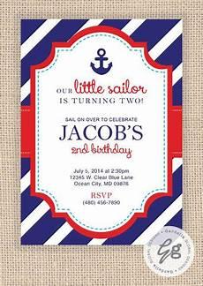 nautical birthday card template nautical birthday invitation nautical invitation