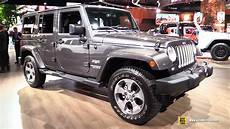 2017 jeep wrangler sahara exterior and interior walkaround 2017 detroit auto show youtube