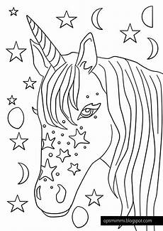 a magical unicorn a coloring page taianomainen