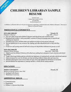 childrens librarian resume sle http resumecompanion