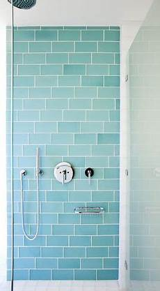 aqua glass subway tile so pretty and soothing