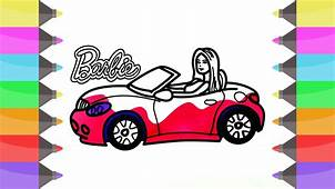 How To Draw Barbie Car  Coloring Pages For Girls Cute