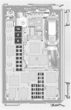 opel meriva b 2012 2016 fuse box diagram auto genius