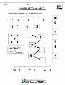 kindergarten number worksheets