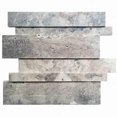 bathroom tiles canada avenzo 12 in x 12 in linear silver travertine mosaic wall