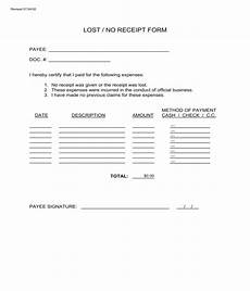 free 3 generic lost receipt forms in pdf