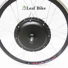 24 inch 36v 750w front hub motor electric bike conversion kit leaf