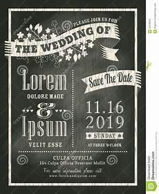 Chalk Wedding Invitations