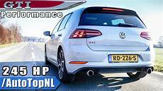 vw golf gti 2019 performance exhaust sound revs