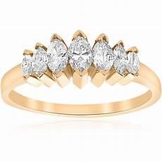 14k yellow gold 3 4ct marquise diamond wedding anniversary ring womens band ebay