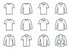 outline t shirt template free vectors clipart