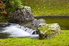kleiner wasserfall im garten zengarten mit wasserfall im herbst stockfoto bild 53387668