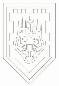 Nexo Knights Schilder Ausmalbilder N Coloring Page Lego Nexo Knights Shields 3