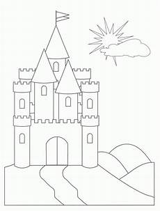 free printable castle coloring pages for