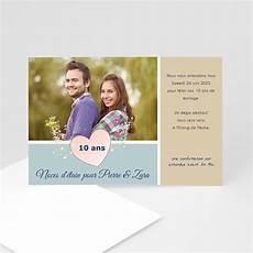 invitation 10 ans de mariage original invitation anniversaire mariage noces etain 10 ans