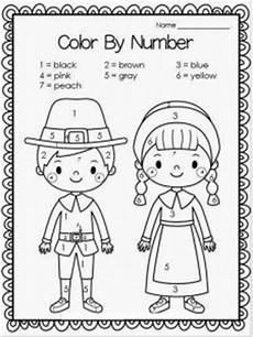 free color by number thanksgiving worksheets 16261 thanksgiving day worksheet for crafts and worksheets for preschool toddler and kindergarten