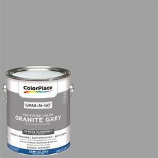 paint color granite gray colorplace grab n go interior paint granite grey gloss finish 1 gallon walmart com