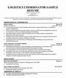 logistics resume templates exles pinterest