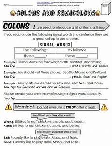 colons and semicolons packet test by mrwatts tpt