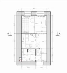 tiny monochrome black walled apartment with mezzanine floor home interior design kitchen and