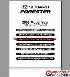 subaru forester 2003 service manual auto repair manual heavy equipment