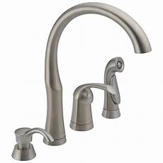 lowes kitchen faucets delta bellini stainless 1 handle deck mount high arc kitchen faucet at lowes