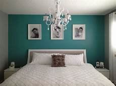 Wandfarbe Petrol Grau - grey and teal bedroom paint colors for the home