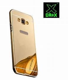 Bumper Mirror Samsung Note 4 drax golden metal mirror bumper back cover for