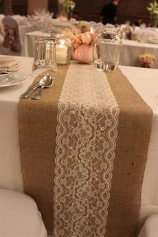 sale 5 ft 12x60 burlap lace table runner wedding decor