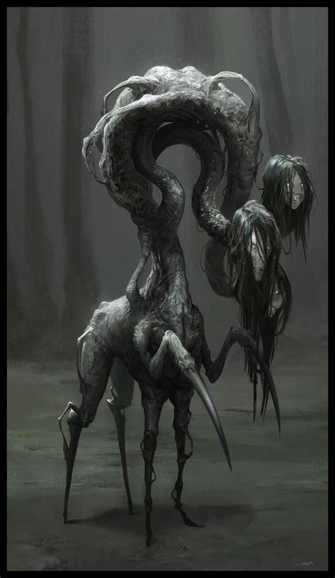 Creepy Monster Drawings