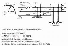 Solved Three Phase 4 Wire 208v 120 V Distribution Syste