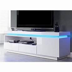 Flash Meuble Tv Avec Led Bleu 150 Cm Laqu 233 Blanc