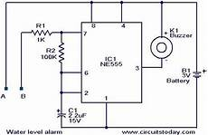 water level alarm using 555 timer circuit and working water level alarm circuit using 555 timer