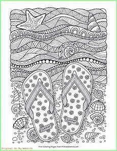 kunst grundschule flip flops coloring page