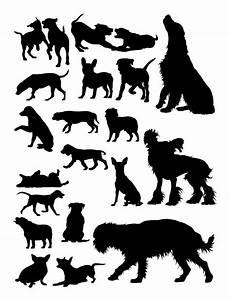 hunde tier silhouette premium vektor