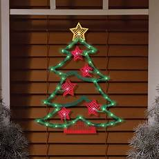 Lighted Decorations by Lighted Tree Window Decoration Walmart