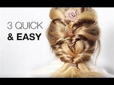 3 quick easy hairstyles with hair extensions youtube